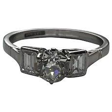 Art Deco 1.2ct Diamond Platinum Ring