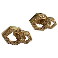 Diamond 18k Gold Geometric Earrings