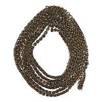 A Victorian 9 Karat Gold Muff Chain
