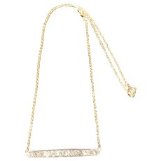 A 2 Carat Diamond Old Cut Brooch Conversion Necklace