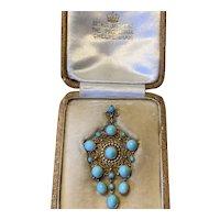 Early Twentieth Century Turquoise Pendant