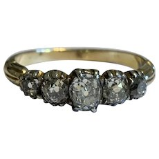 Victorian Old Cut Diamond Antique Ring