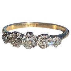An Old Cut Diamond Ring
