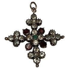 Black Dot Georgian Cross