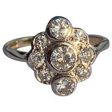 Diamond and 18 Karat Gold Ring