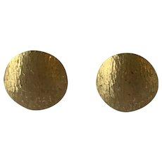 18 Karat Gold Modern Earrings