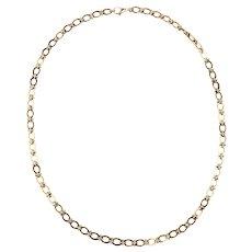 A Heavy Long Modern 9 Karat Gold Chain