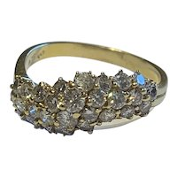 18 Karat Gold 1.4ct Diamond Dress Ring