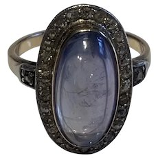 Sapphire and Diamond Edwardian Ring