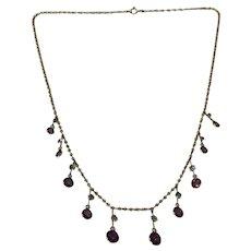 Edwardian 9 Karat Gold Fringe Necklace
