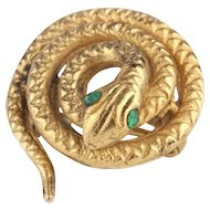 A 1940s Snake Brooch