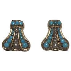 Turquoise Edwardian Earrings