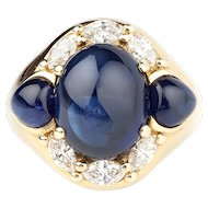 A Natural Sapphire and Diamond Dress Ring