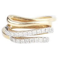 Diamond and 18ct Gold Modern Ring