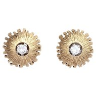 Diamond and 18k Gold Vintage Earrings