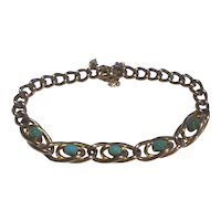 A Victorian Turquoise Gold Bracelet