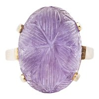 An Amethyst Gold Ring
