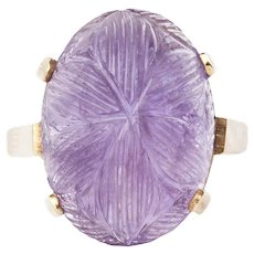 An Amethyst Gold Ring