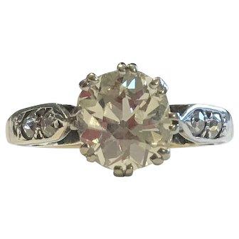 An Old Cut 1.75ct Diamond Ring