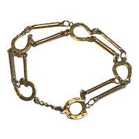 A 9k Gold Horseshoe Link Bracelet