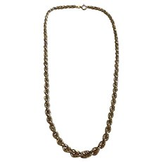 A 9ct Gold Vintage Rope Chain