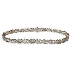 Diamond 18k White Gold Bracelet