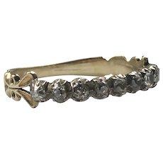 Georgian Rose Cut Diamond Eternity Ring