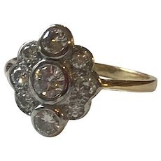 A Diamond 18k Gold Ring