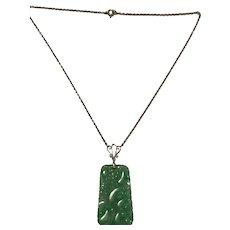 A Jade 1940s 9k Pendant