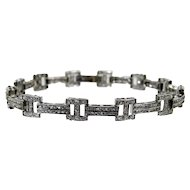 A Diamond White Gold Bracelet