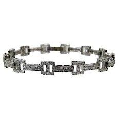 A Diamond White Gold Bracelet
