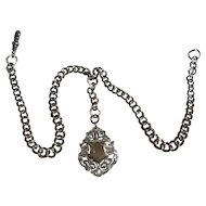 A Silver Victorian Chain and Fob