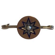 A Victorian Starburst Brooch