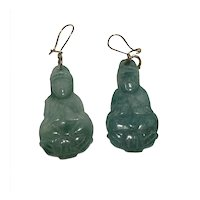Jade Buddha Earrings