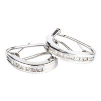 Diamond White Gold 9k Earrings