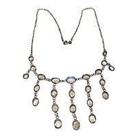 A Silver Moonstone Necklace