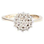 Diamond Cluster 9k Gold Dress Ring
