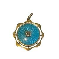 A Victorian Enamel Picture Locket Pendant