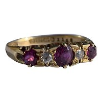 A Ruby and Diamond 18 Karat Ring