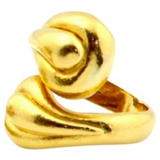 Ilias Lalaounis Greek Abstract 18k Gold Ring