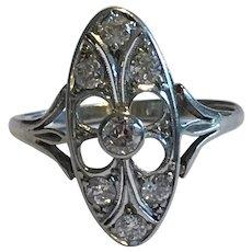 Diamond Edwardian 18 Karat Gold Ring