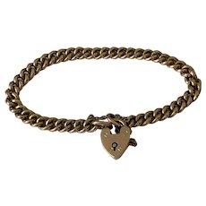 9ct Gold Antique Curb Link Bracelet