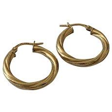 9 Karat Gold Hoop Earrings