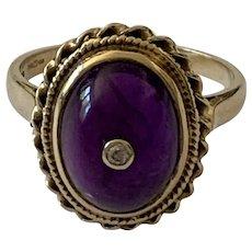 Amethyst and Diamond Dress Ring