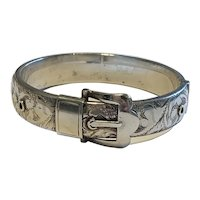An Edwardian Sterling Silver Buckle Bracelet