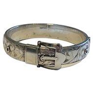 An Edwardian Sterling Silver Buckle Bracelet
