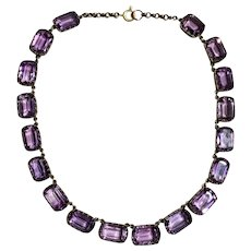 Natural Amethyst Rivière Necklace