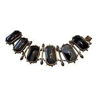 Banded Agate Victorian Bracelet