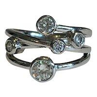 Platinum and Diamond Dress Ring 0.9cts