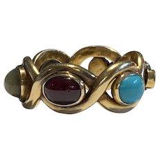 A 19th Century Multi Gem Ring